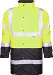 Geaca de iarna reflectorizanta pentru barbati 4 in 1 HI-VIZ galbena cod:H8911