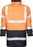 Geaca de iarna reflectorizanta pentru barbati 4 in 1 HI-VIZ portocalie cod:H8912