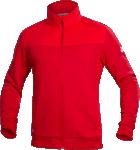 Hanorac barbati fleece fara gluga M007 Rosu cod:H5947
