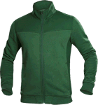 Hanorac barbati fleece fara gluga M007 verde cod:H5943