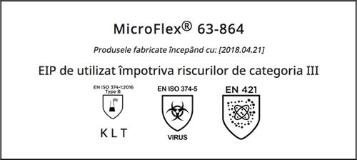 Standarde manusi latex nepudrate Ansell MICROFLEX 63-864